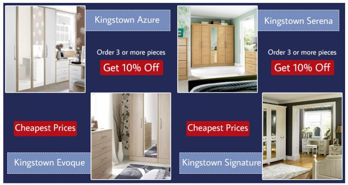 Suttons Wickford Kingstown Azure, Serena, Evoque, Signature