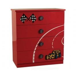 Racer Red 4 Drawer Chest