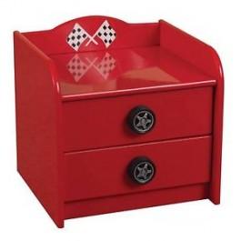 Racer Red Bedside Chest