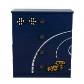 Racer Blue 4 Drawer Chest
