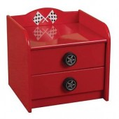 Racer Red Bedside Chest